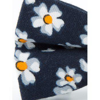 Tiny Flowers Pattern Cotton Blend Bow Tie -  CADETBLUE