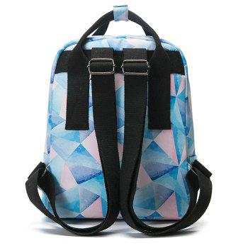 Printed Nylon Backpack - PINK