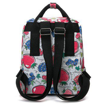 Printed Nylon Backpack - RED