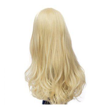Long Middle Part Shaggy Wavy Synthetic Wig - GOLDEN