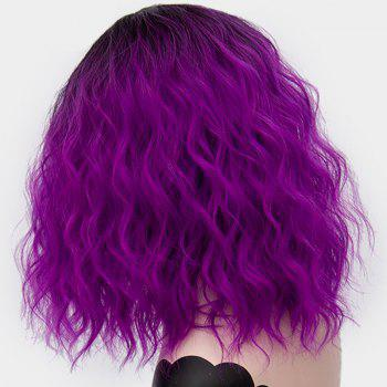 Medium Ombre Side Part Shaggy Natural Wave Synthetic Wig - CONCORD