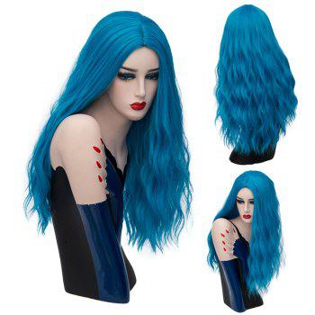 Long Center Parting Fluffy Natural Wave Synthetic Wig