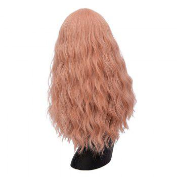 Long Center Parting Fluffy Natural Wave Synthetic Wig -  CHAMPAGNE GOLD