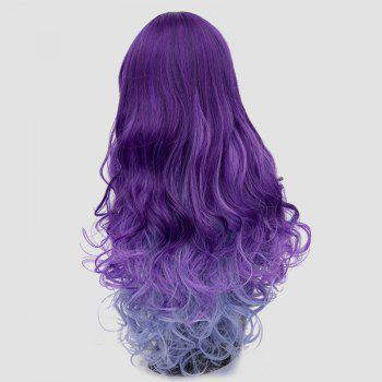 Long Side Bang Layered Shaggy Curly Colormix Perruque synthétique - Pourpre