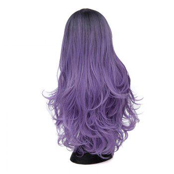Long Middle Parting Ombre Layered Wavy Synthetic Wig -  CONCORD