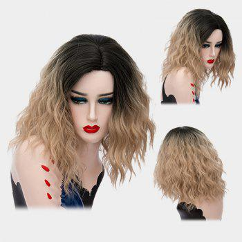 Medium Ombre Side Part Shaggy Natural Wave Synthetic Wig