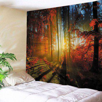 Maple Forest Print Tapestry Wall Hanging Art