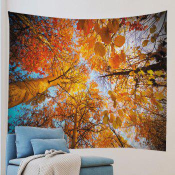 Forest Tree Print Tapestry Wall Hanging Art Decor - CITRUS W59 INCH * L51 INCH