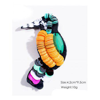 Disc Sequins Bird Brooch - COLORMIX