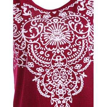 Patterned Backless Tank Top - M M