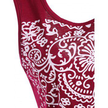 Patterned Backless Tank Top - L L