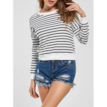 Striped Slim Fit Knit Sweatshirt