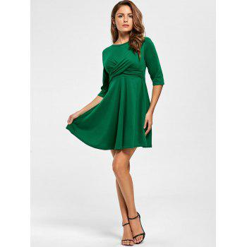 Short A Line Day Dress - Vert L