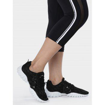 Mesh Geometric Pattern Breathable Athletic Shoes