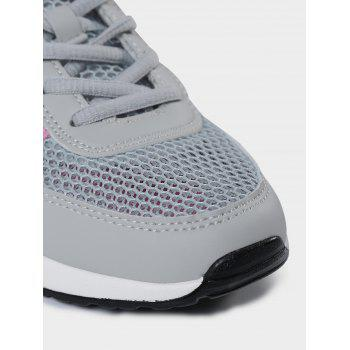 Breathable Geometric Pattern Athletic Shoes - GRAY GRAY