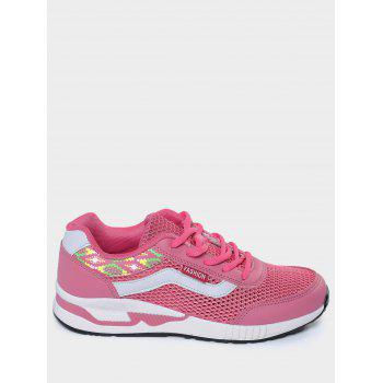 Breathable Geometric Pattern Athletic Shoes - 39 39