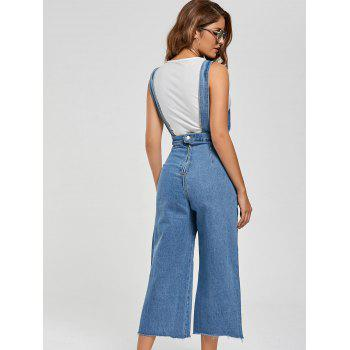 Wide Leg Ninth Denim Pinafore Pants - XL XL