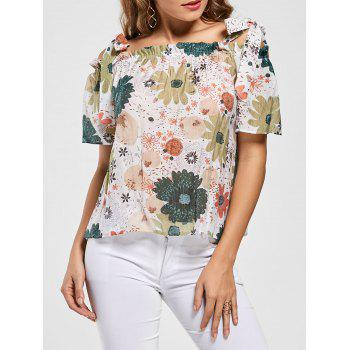 Floral Off Shoulder Spaghetti Strap Blouse