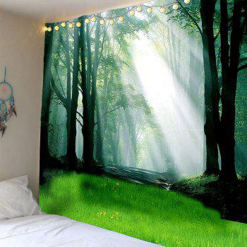 Waterproof Sunlight Forest Glass Wall Hanging Tapestry