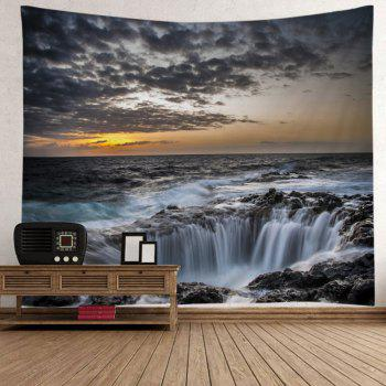 Ocean Hole Print Tapestry Wall Hanging Art - Gris W91 INCH * L71 INCH