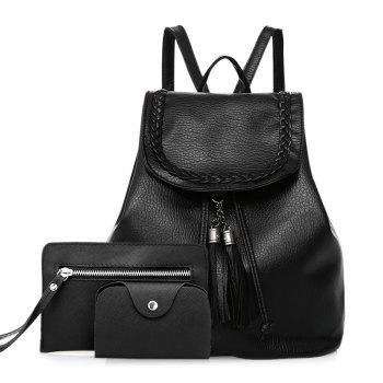 Ensemble sac à dos Faux Leather Tassel