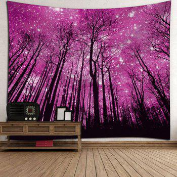 Microfiber Wall Hanging Grove Pattern Tapestry - PURPLISH RED W79 INCH * L59 INCH