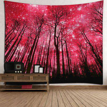 Microfiber Wall Hanging Grove Pattern Tapestry - RED W59 INCH * L59 INCH