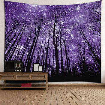 Microfiber Wall Hanging Grove Pattern Tapestry - PURPLE W59 INCH * L59 INCH