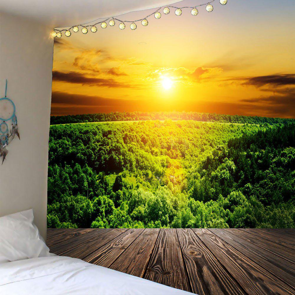 Sunset Forest Waterproof Wall Tapestry sunset park