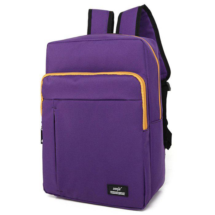 Casual Padded Strap Backpack - PURPLE