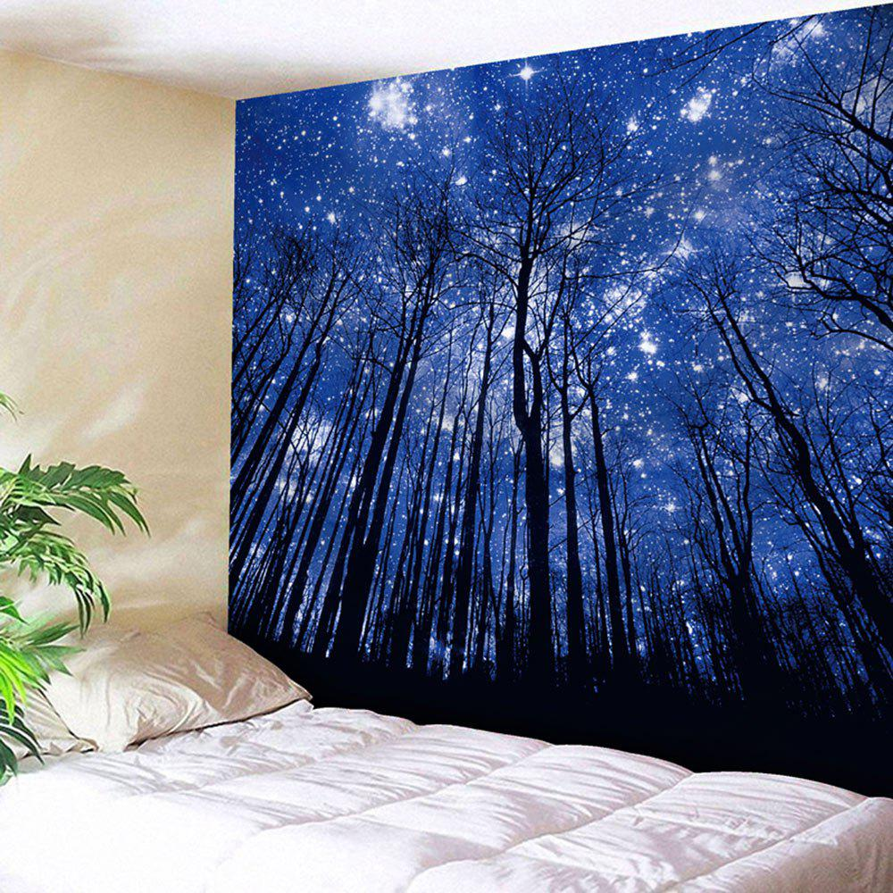 Wall Hanging Forest Pattern Tapestry - DEEP BLUE W59 INCH * L51 INCH