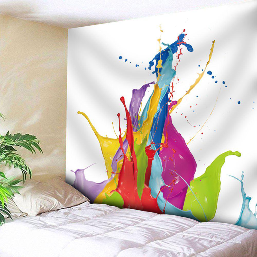 Microfiber Wall Hanging Oil Painting Tapestry - WHITE W59 INCH * L59 INCH