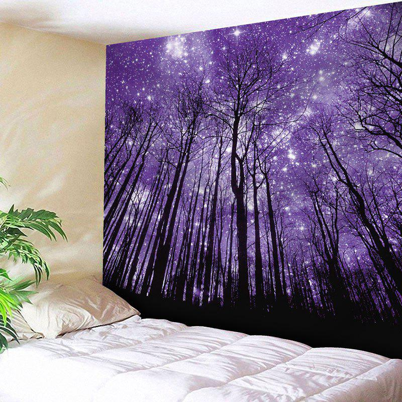 Microfiber Wall Hanging Grove Pattern Tapestry - PURPLE W59 INCH * L51 INCH