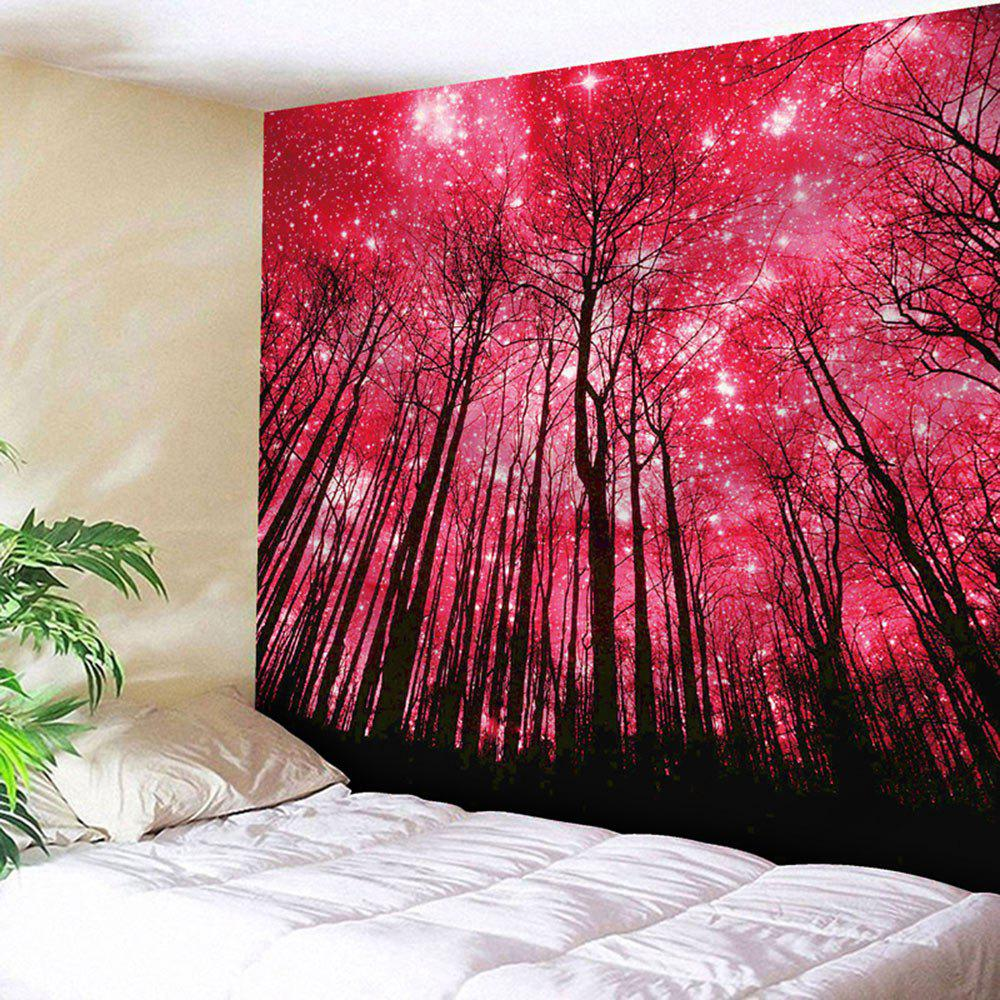 Microfiber Wall Hanging Grove Pattern Tapestry - RED W79 INCH * L59 INCH