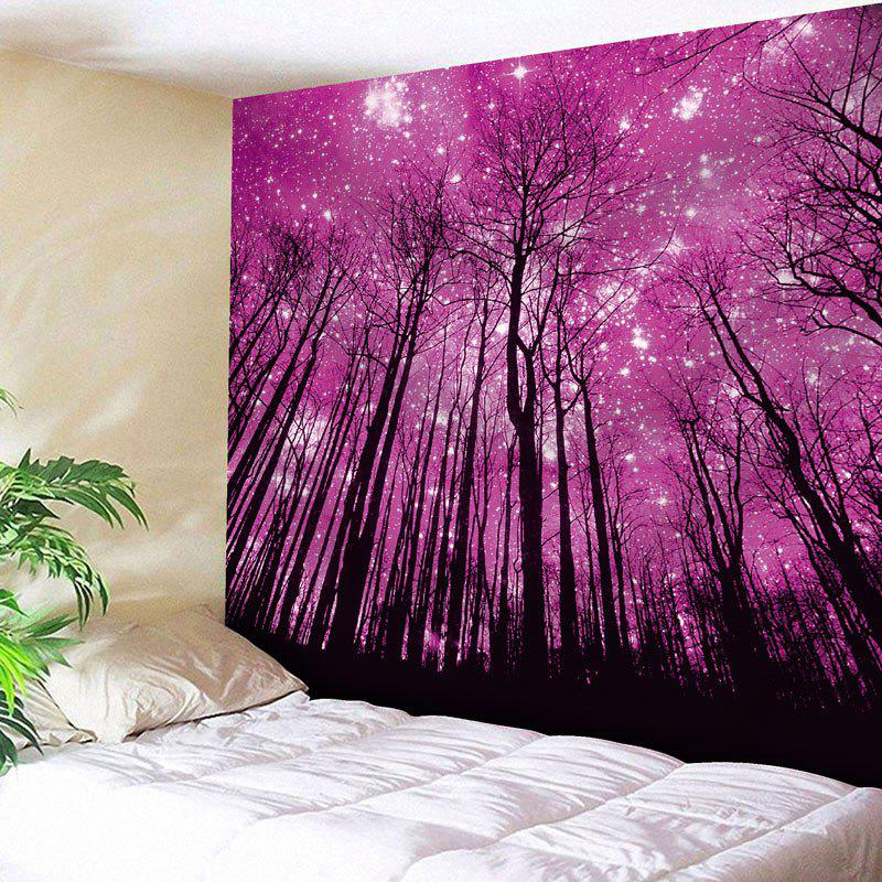 Microfiber Wall Hanging Grove Pattern Tapestry - PURPLISH RED W59 INCH * L51 INCH