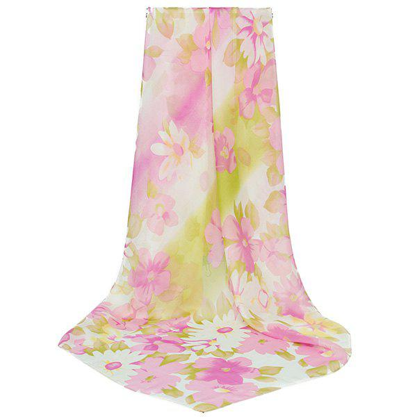 Gossamer Watercolour Flowers Printed Scarf - PINK
