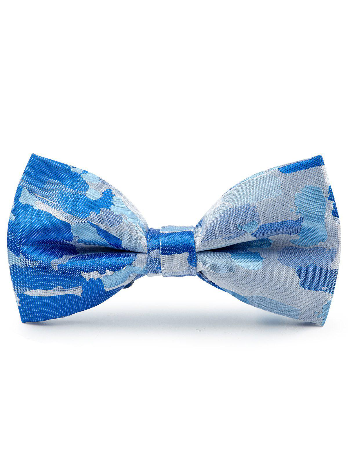 Jacquard Artificial Silk Bow Tie - Bleu clair