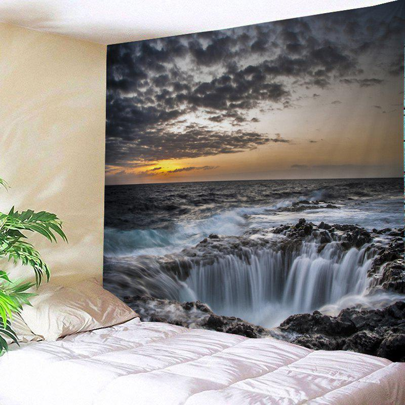 Ocean Hole Print Tapestry Wall Hanging Art - GRAY W59 INCH * L59 INCH