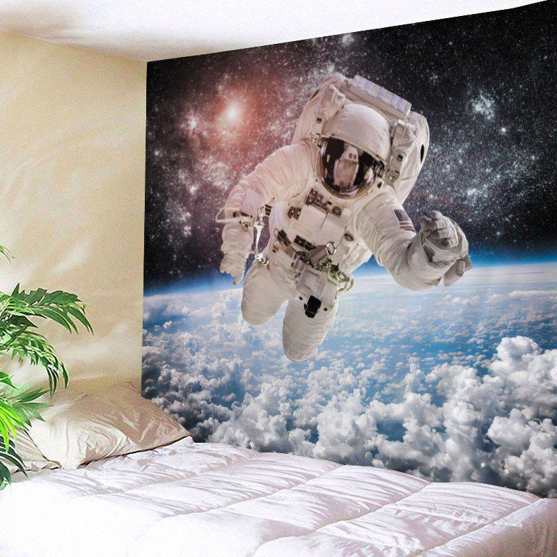 Galaxy Astronaut Print Tapestry Wall Hanging Art - WHITE W59 INCH * L59 INCH