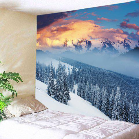 Snow Mountain Print Tapestry Wall Hanging Art - WHITE W79 INCH * L59 INCH