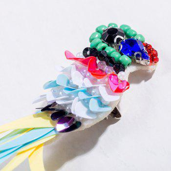 Rhinestone Sequin Parrot Brooch -  COLORMIX