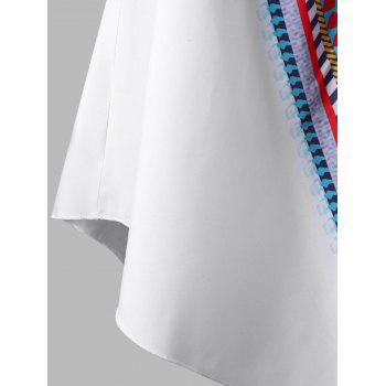 Colorful Elastic Off Shoulder Plus Size Tunic Blouse - WHITE 2XL