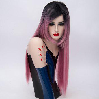 Long Incliened Bang Colormix Straight Synthetic Wig -  TUTTI FRUTTI