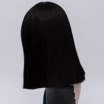 Full Bang Medium Straight Synthetic Wig -  BLACK
