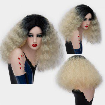 Medium Center Part Ombre Fluffy Corn Hot Synthetic Wig