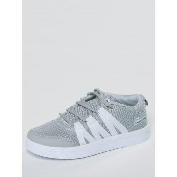 Breathable Mesh Skate Shoes - GRAY GRAY