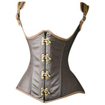 Underbust Faux Leather Corset Vest