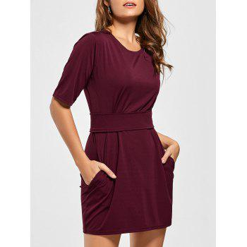 Mini Fitted Dress with Belt