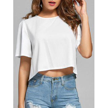 Cropped Wide Sleeve Top