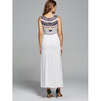 Bohemian Geometric Print Maxi Long Dress - L L